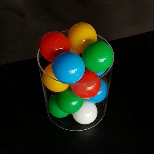 Plexiglas buis met ballen (Prestatiemeters)