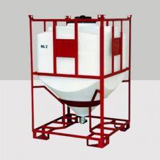 Silocontainer rechthoekig (poeder) van 50 tot 2400 liter