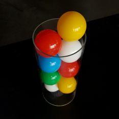 Plexiglas buis Ø150 mm met ballenbak ballen Ø70 mm