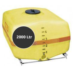 Opslagtank Horizontaal 2000 liter (met schotten)