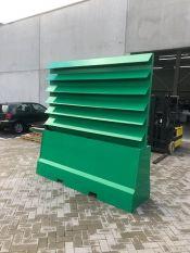 HDPE groene plantenbak en geluidswerend scherm in één