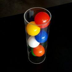 Plexiglas buis Ø100 mm met ballenbak ballen Ø60 mm