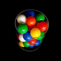 Plexiglas buis Ø200 mm met ballenbak ballen Ø60 mm