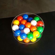 Plexiglas buis Ø300 mm met ballenbak ballen Ø60 mm