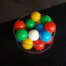 Plexiglas buis Ø300 mm met ballenbak ballen Ø70 mm