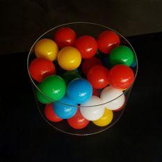 Plexiglas buis Ø350 mm met ballenbak ballen Ø70 mm