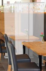 Rolbanner / scherm PVC met transparante doek