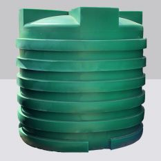 Opslagtank Bovengronds Rond Groen 6000L (Drinkwater)