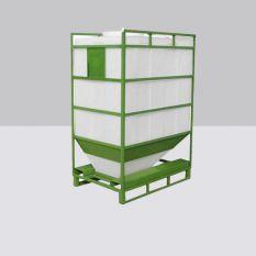 Silocontainer rechthoekig (poeder) van 900 tot 1450 liter