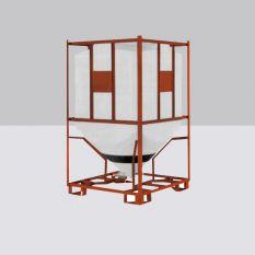 Silocontainer rechthoekig (poeder) van 1000 tot 2340 liter