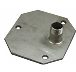 Stainless steel flange plate with threaded nipple