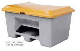 Container voor o.a. zoutopslag en zandopslag 400L met schepopening