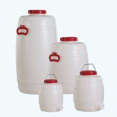 Vat Rond Kunststof HDPE Foodgrade 10 tot 125 liter