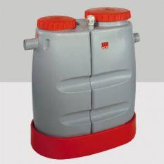Mobiele Vetafscheider Deelbaar met deksel 480 Liter
