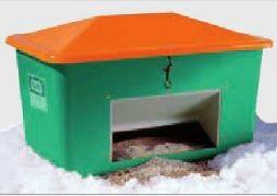 Opslag container voor zout of zand 550L met schepgat