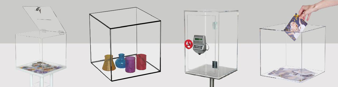 Plexiglas kubus, box of kluis